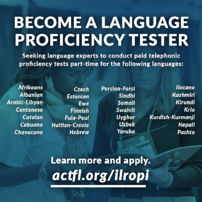 Apply to be a language proficiency tester.